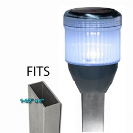 Rectangle Solar Dock Post Lights