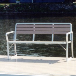 Aluminum three person bench seating