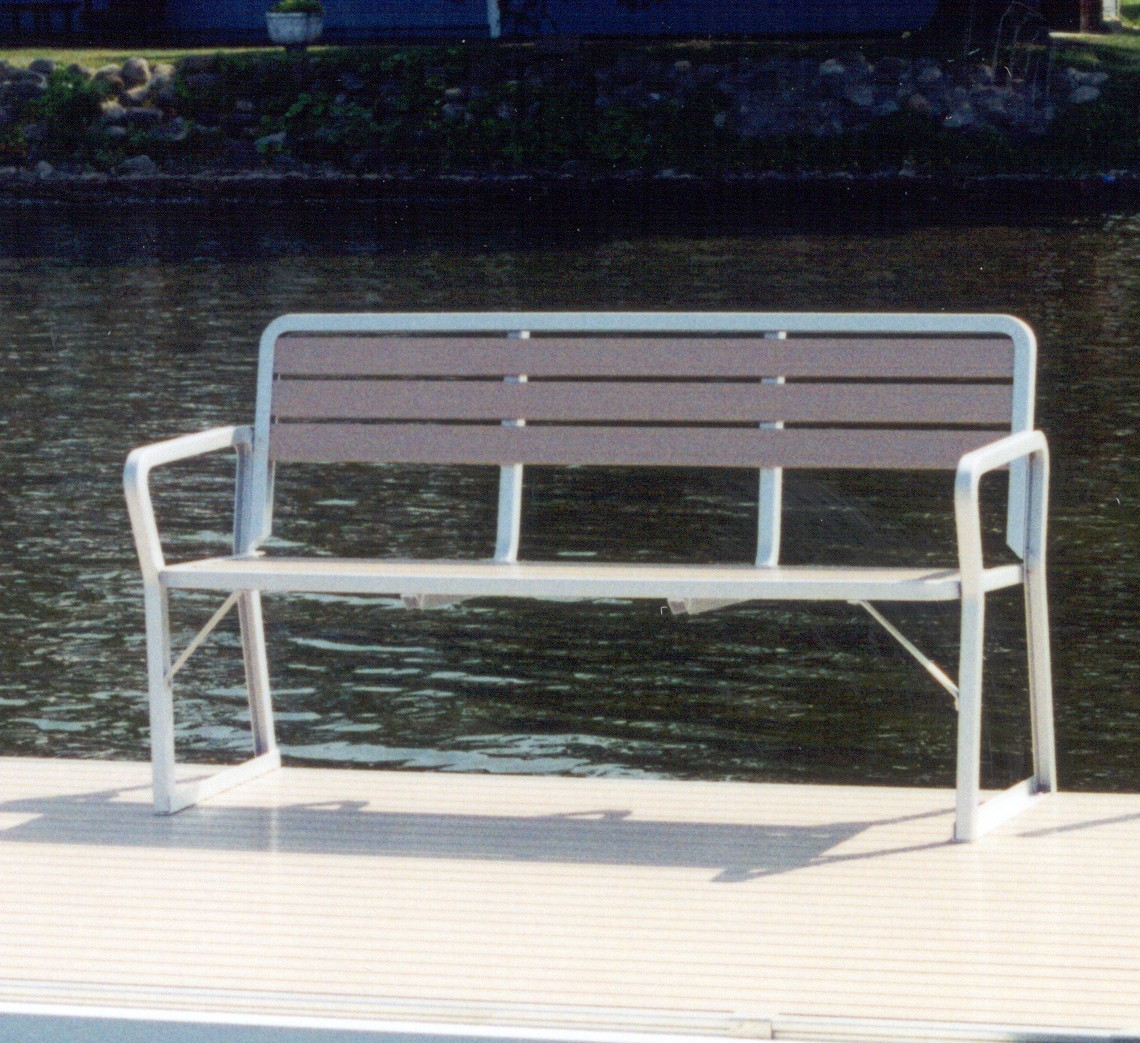 Aluminum Boat Benches : Aluminum three person bench seating mc docks