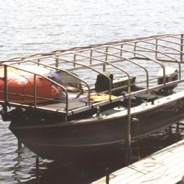 Pontoon Lift Canopy Storage Net & Pontoon lift canopy storage net for storing water toys and gear at ...