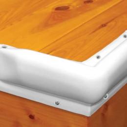Dock Pro Vinyl Boat Dock Corner Bumpers in White