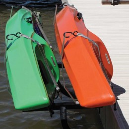 Dock Sides Dual Kayak Racks Horizontal