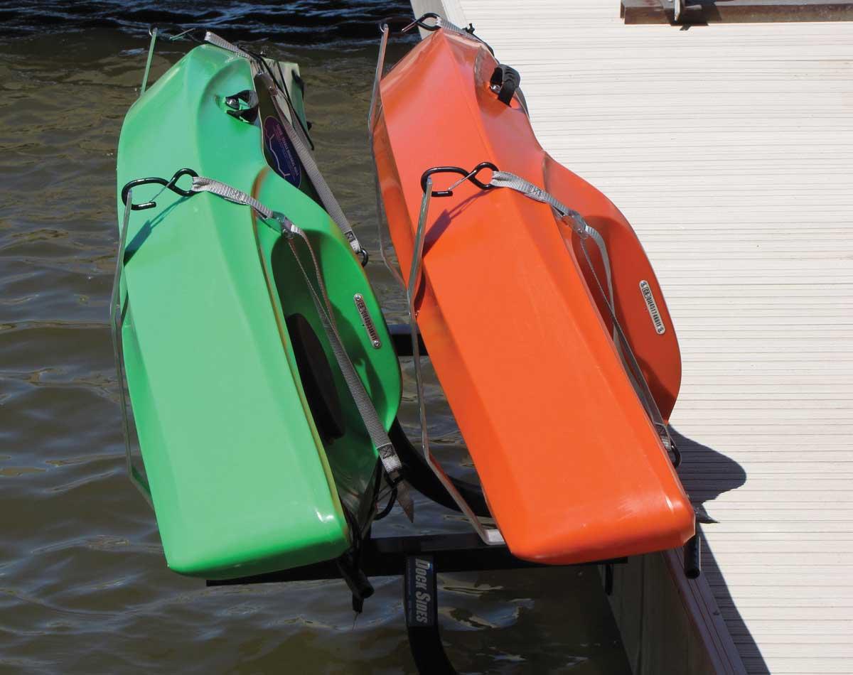 Dock Sides Horizontal Dual Kayak Rack