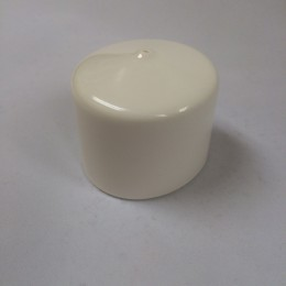 Boat Dock Pipe Caps in White