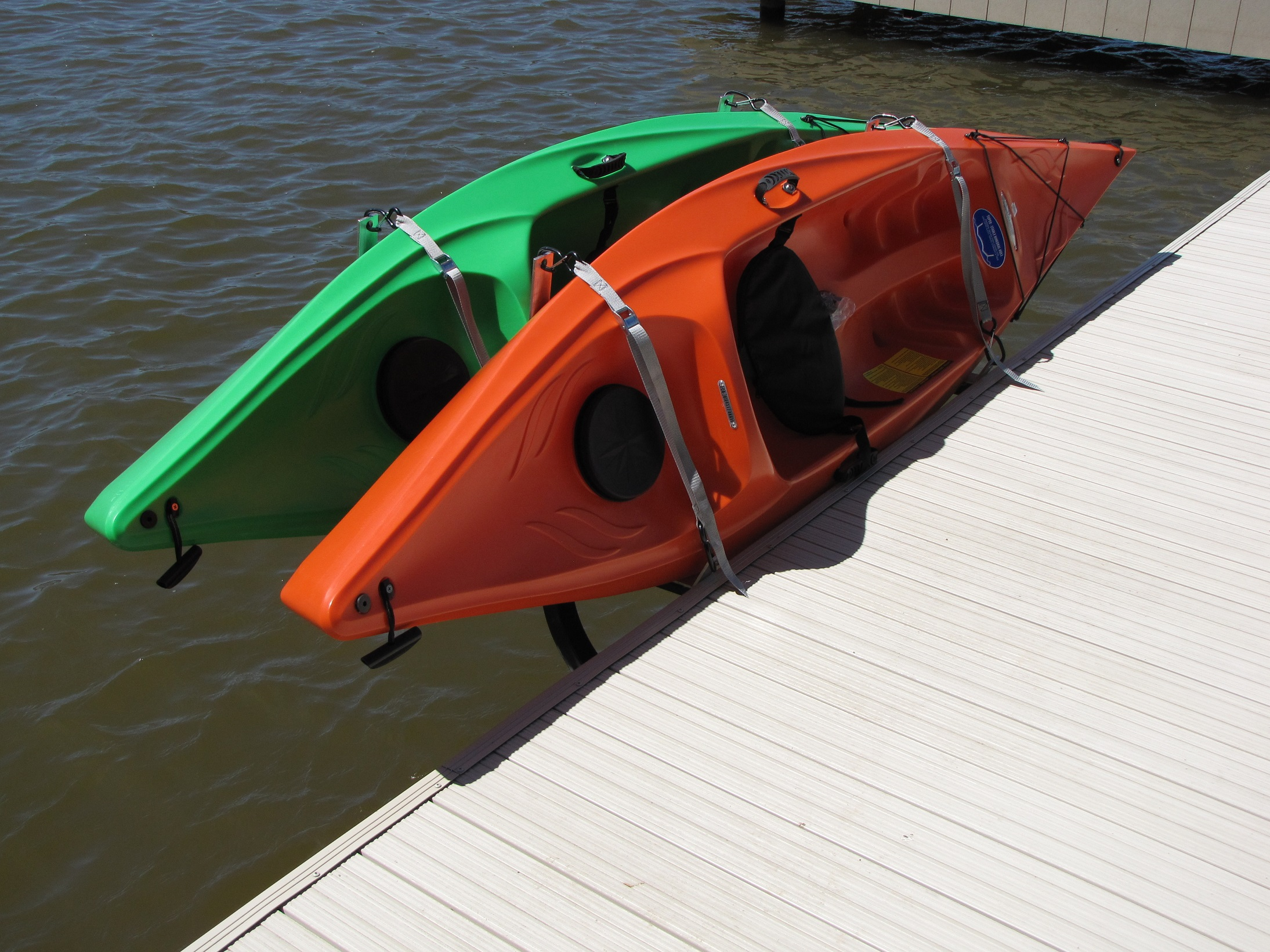 Storage for two kayaks